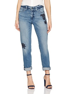 Not Your Daughter's Jeans NYDJ Women's Jessica Boyfriend Jeans with Flower Embroidery