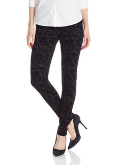 NYDJ Women's Joanie Skinny Flocked Ponte Pull On Leggings