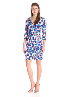 NYDJ Women's Jolene Printed Jersey Fitted Sheath Dress with Slimming Fit Solution
