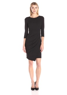 NYDJ Women's Josette Stretch Crepe Fitted Sheath Dress with Slimming Fit Solution