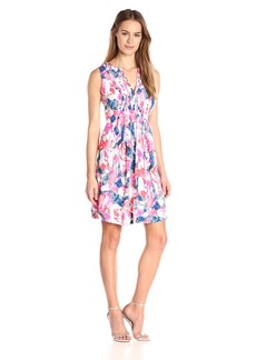NYDJ Women's Lana Fit and Flare Dress with Detachable Fit Solution
