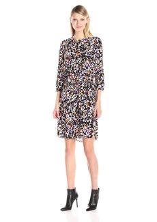NYDJ Women's Lauren 3/4 Sleeve Pleatback Dress