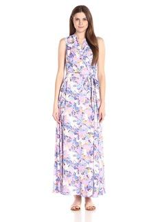 NYDJ Women's Lena Woven Maxi Wrap Dress with Detachable Fit Solution