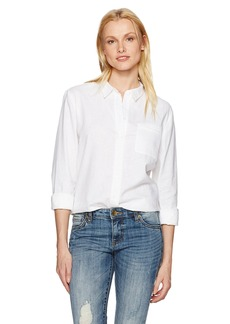Not Your Daughter's Jeans NYDJ Women's Linen Cotton Button Down Shirt