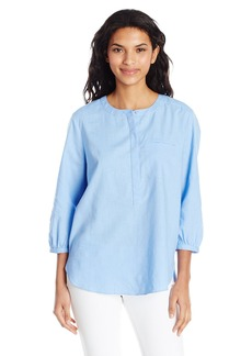 Not Your Daughter's Jeans NYDJ Women's Linen Pleat Back Blouse