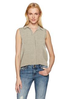 NYDJ Women's Linen Yarn Dye Top