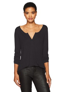NYDJ Women's Long Sleeve Knit Henley Shirt