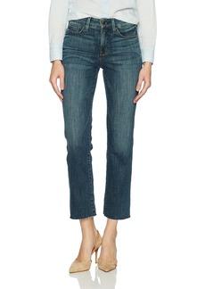 NYDJ Women's Marilyn Straight Ankle Jeans Desert Gold with RAW Hem