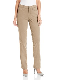 NYDJ Women's Marilyn Straight Pants in Colored Chino Twill