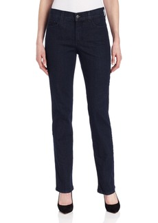 NYDJ Women's Marylyn Straight Leg Jeans In Tonal Blue/Black Wash Tonal blue black