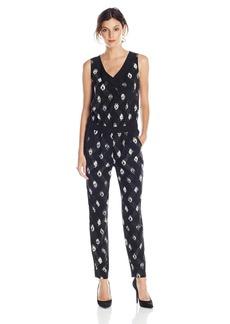 NYDJ Women's Milly Printed Tuxedo Stripe Jumpsuit