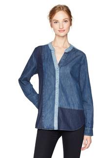 NYDJ Women's Mixed Wash Denim Shirt