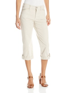 NYDJ Women's Morgan Utility Crop Jeans in Peached Twill Denim