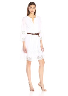 NYDJ Women's Nanette Lace A-Line Dress with Detachable Fit Solution