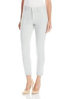 NYDJ Women's Nichelle Rolled Cuff Ankle Jeans in Railroad Stripe Denim  10
