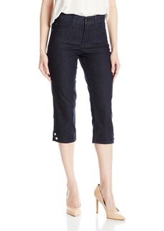 NYDJ Women's Novelty Ariel Crop Jeans Dark Enzyme Wash-Buttons