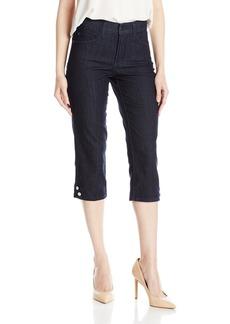 NYDJ Women's Novelty Ariel Crop Jeans Dark Enzyme Wash-Buttons
