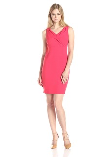 NYDJ Women's Penelope Stretch Crepe Sheath Dress
