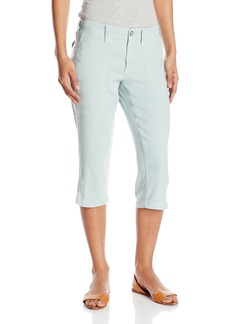 Not Your Daughter's Jeans NYDJ Women's Petite Aria Crop Pants in Stretch Linen
