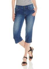 NYDJ Women's Petite Ariel Cropped Jeans with Rhinestone Slit