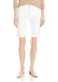 NYDJ Women's Petite Briella Roll Cuff Jean Shorts In Colored Bull Denim  8 Petite