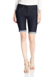Not Your Daughter's Jeans NYDJ Women's Petite Briella Roll Cuff Jean Shorts In Core Indigo Denim  10 Petite