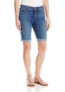 NYDJ Women's Size Briella Shorts in Stretch Indigo Denim  10 Petite