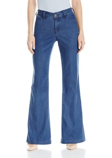 NYDJ Women's Size Claire Trousers in Chambray Denim  6 Petite