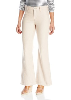 NYDJ Women's Size Claire Trousers in Textured Linen