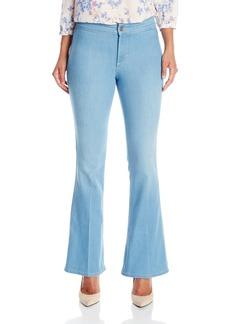 NYDJ Women's Petite Farrah Flare Jeans In Sky Blue Denim  10 Petite