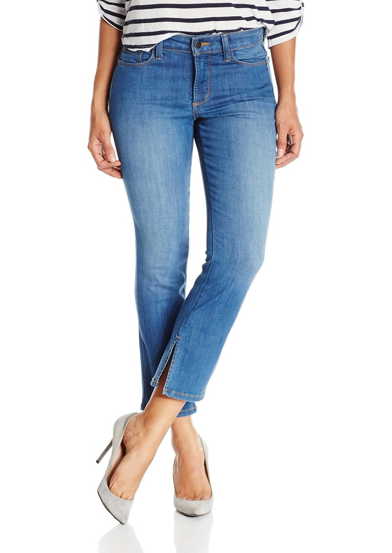 NYDJ Women's Petite Ira Relaxed Ankle Jeans with Inseam Slit