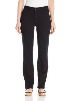 NYDJ Women's Petite Marilyn Straight Jeans Black 4P