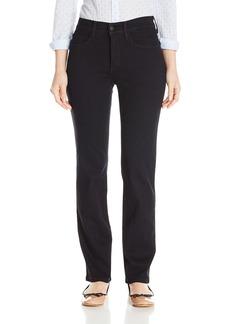 NYDJ Women's Petite Marilyn Straight Jeans Black