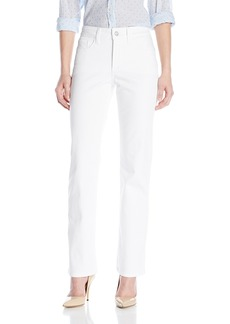 NYDJ Women's Petite Marilyn Straight Jeans In Bull Denim - Optic White 18 Petite