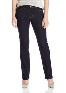 NYDJ Women's Petite Marilyn Straight Jeans In Dual FX Indigo Denim