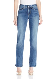 Nydj Women's Petite Marilyn Straight Jeans In Premium Lightweight Denim Heyburn Wash 14P