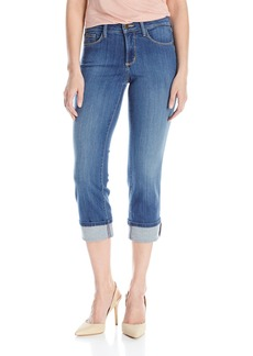 NYDJ Women's Petite Marilyn Straight Jeans with Roll Cuff In Sure Stretch Denim