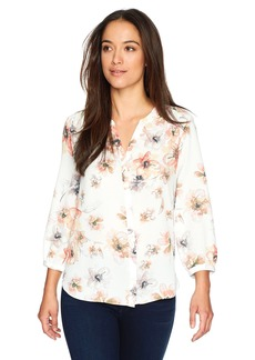 Not Your Daughter's Jeans NYDJ Women's Petite Size Pintuck Pleat Back Blouse  PM