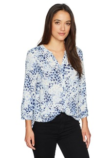 Not Your Daughter's Jeans NYDJ Women's Petite Size Pintuck Pleat Back Blouse  PXL