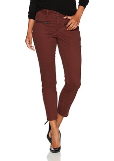 NYDJ Women's Petite Size Skinny Chino Pants Deep Currant with Zipper 0P