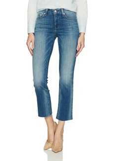 Not Your Daughter's Jeans NYDJ Women's Platinum Series Marilyn Straight Ankle Jeans Beacon with Raw Hem