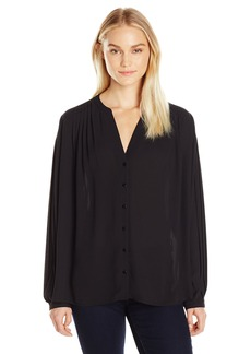 Not Your Daughter's Jeans NYDJ Women's Pleated Sleeve Blouse