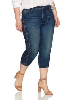 NYDJ Women's Plus Size Alina Skinny Capri Jeans