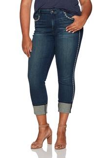 NYDJ Women's Plus Size Alina Wide Cuff Skinny Ankle Jeans
