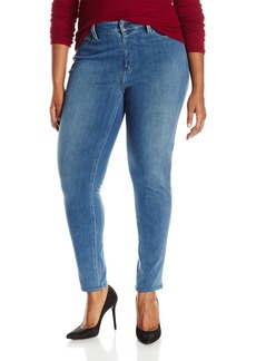 NYDJ Women's Plus-Size Ami Super Skinny Pull On Jeans In Indigo Knit  16W