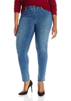 NYDJ Women's Plus-Size Ami Super Skinny Pull On Jeans In Indigo Knit  24W