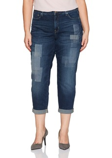 Not Your Daughter's Jeans NYDJ Women's Plus Size Boyfriend Jean Horizon with Embroidery