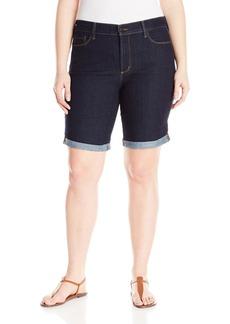NYDJ Women's Plus-Size Briella Roll Cuff Shorts In Premium Lightweight Denim  14W