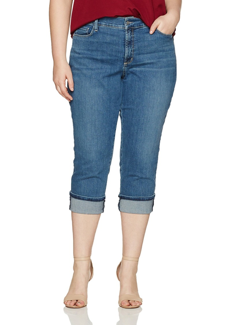 NYDJ Women's Plus Size Dayla Wide Cuff Capri Jeans