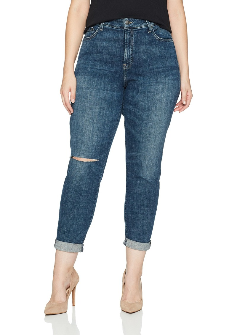 Not Your Daughter's Jeans NYDJ Women's Plus Size Girlfriend Jeans Newton with Knee Slit